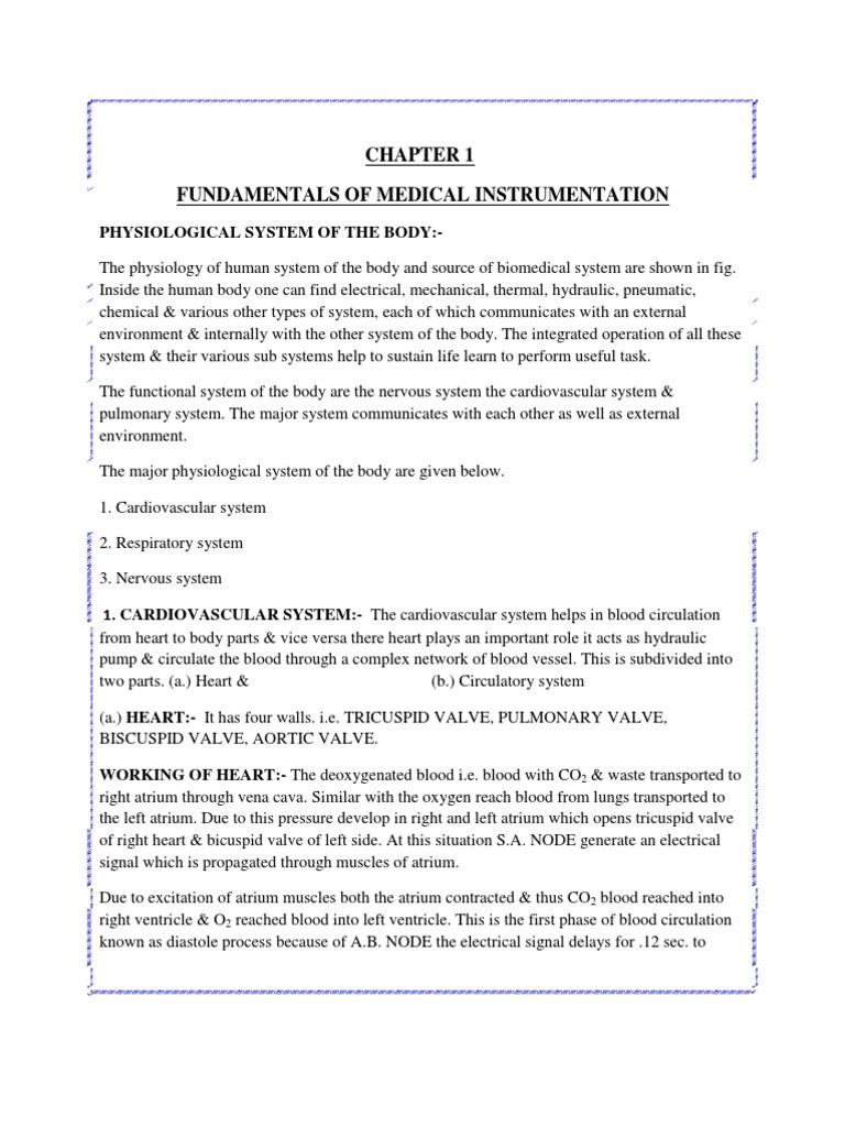 Biomedical Instrumentation | Circulatory System | Lung