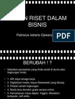 Riset Dalam Business Seminar Eba Okt 2012