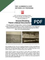 Titanic Pre Sale 24-11-12 Clarke Lifeboats