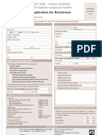 ELICOS Application Form