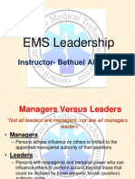 EMS Leadership for new EMTs.ppt