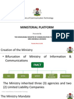 Federal Ministry of Communication Technology Achievements