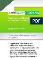 Presentation Industrial Complex Ciocana BIS 13.07.2012