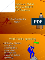 Pvr Public Speaking