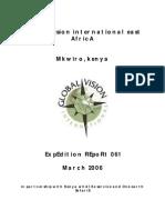GVI Kenya Expedition 061 Report Final