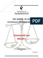 BHL3011 Commercial Law - Module Planner May 2011