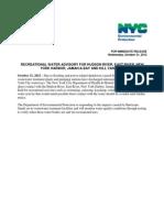 DEP Press Release 10-31-2012