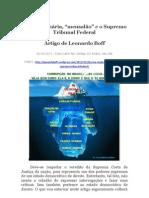 Crise originária  e o julgamente do mensalão no Supremo Tribunal Federal