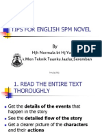 Tips for English Spm Novel