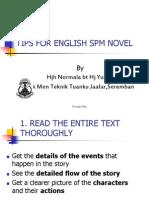 Tips for English Spm Novel