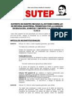 SUTEP Rechazo Al Dictamen de Ley de Reforma Magisterial 15-10-2012