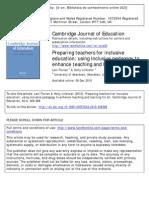 Preparing Teachers for Inclusive