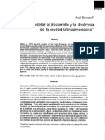 Borsdorf Como Modelar El Desarrollo y Dinamica de La Ciudad Latinoamericana