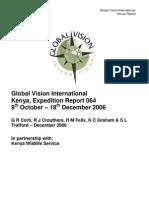 GVI Kenya Expedition 064 Report Final