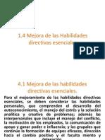 1.4 Mejora de Las Habilidades Directivas Esenciales
