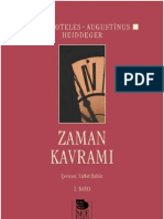 ARİSTOTELES / AUGUSTİNUS / HEİDEGGER - ZAMAN KAVRAMI