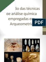 Aplicação das técnicas de análise química