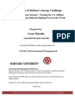 ENVR E 102 Department of Defense Energy Challenge Operational Energy Strategy