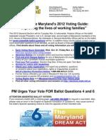 Progressive Md Voter Guide