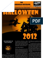 The 'X' Chronicles Newspaper - Halloween / October 2012 Edition