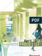 LEGRAND Main Price List April 2012