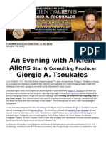 Los Angeles!  Meet Ancient Alien TV Star Giorgio Tsoukalos SUNDAY as he Sweeps into Town on his National Tour!