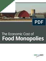 Cost of Food Monopolies