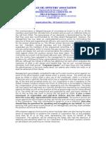 Secretary IOOA, Northern region Communication-40 dtd 23-01-09