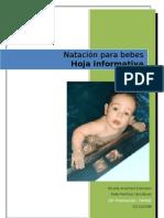 Hoja informativa de natación para bebes - Nico y Rafa
