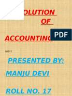 Presentation of Evolution of Accounting
