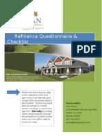 MMC 2012 Refinance Questionnaire and Checklist