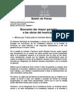 02-05-2011 Buscan darle garantía a las obras del municipio