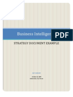 BI Strategy Document Template