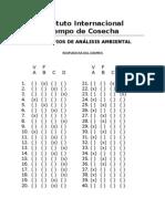 Respuestas PRINCIPIOS DE ANÁLISIS AMBIENTAL