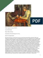 Jugadores de cartas-Cézanne