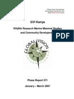 GVI Kenya Expedition 071 Report Final