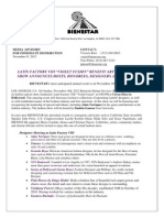 Bienestar's Latin Factory Viii- Media Advisory 10-1-12
