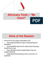 "Advocacy Tools – ""Be Heard"" -Academy 2012 ppt"