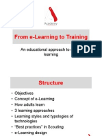 From E-learning to Training