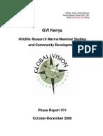 GVI Kenya Expedition 074 Report Final