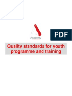 Quality Standards for Youth Programme and Training
