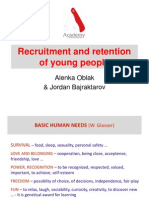Recruitment and Retention of Young People