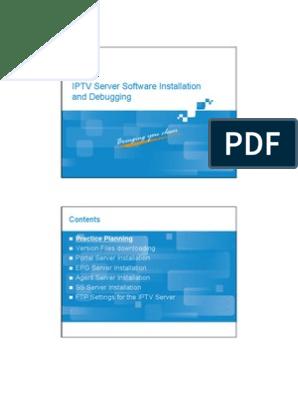 10 IPTV-BC-En-IPTV Server Software Installation and