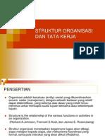 Struktur Organisasi Dan Tata Kerja