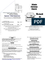 October 28, 2012 Church Bulletin