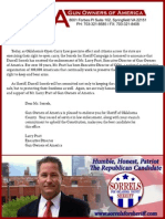 Larry Pratt, GOA, Endorses Darrell Sorrels for OK County Sheriff 2012
