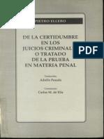 Tratado de La Prueba en Material Penal - Pietro Ellero