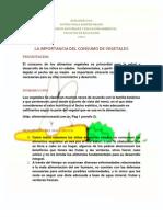 La Importancia Del Consumo de Vegetales Paola