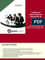 Legislación sobre Sistemas Integrados de Gestión -  UCSP - Arequipa- Perú