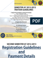 NCPAG SG Second Semester Registration Guidelines